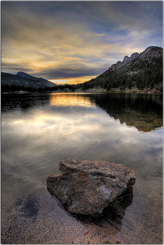 sunset lake clouds scenery colorado compassion sinner hdr rockymountainnationalpark lilylake 3616 visionqualitygroup sorryijusthaveabadfeelingabouttoday