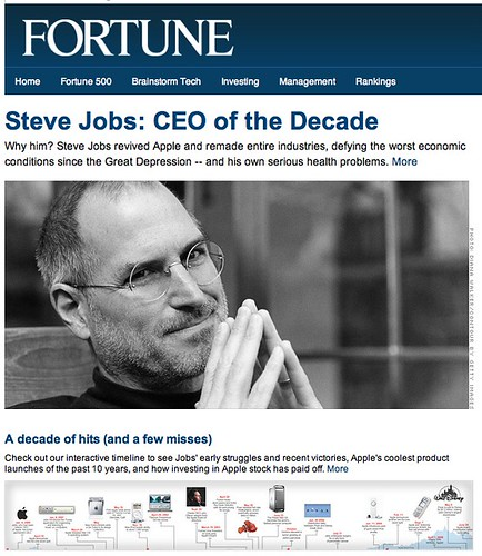 Steve Jobs on Fortune 2009