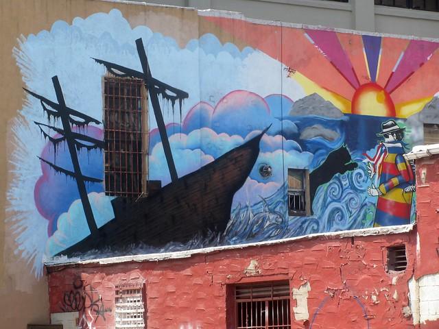 Ship mural flickr photo sharing for Mural z papiezem franciszkiem