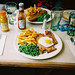 gammon, eggs, chips and peas by lomokev