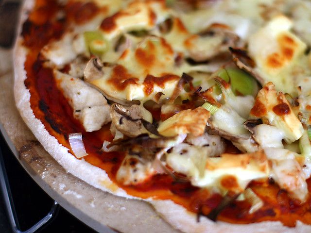 Chicken, leek & mushroom pizza | Flickr - Photo Sharing!