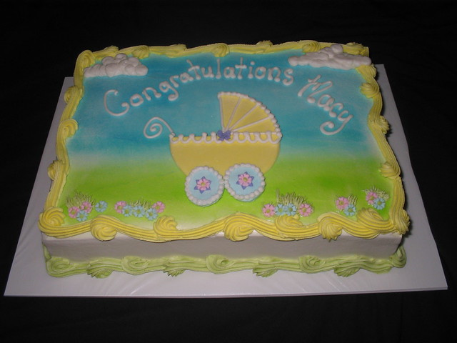 baby shower sheet cake with buggy flickr photo sharing