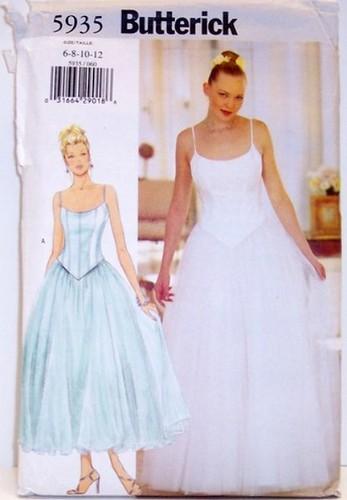 Butterick 5935 Sewing Pattern Wedding Formal Prom Princess Ballerina