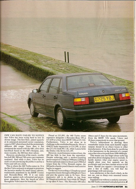 Volvo 460 Turbo Road Test 1990 2 | Flickr - Photo Sharing!