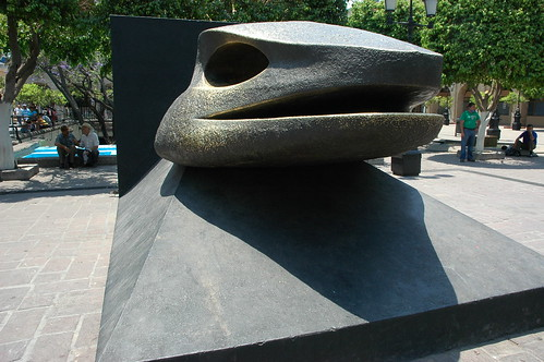 Snake head sculpture, main square, Guadalajara, Jalisco, Mexico by Wonderlane
