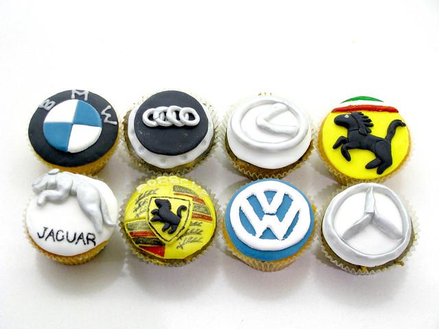 Luxury Vehicles Logo: Luxury Car Logo Cupcakes