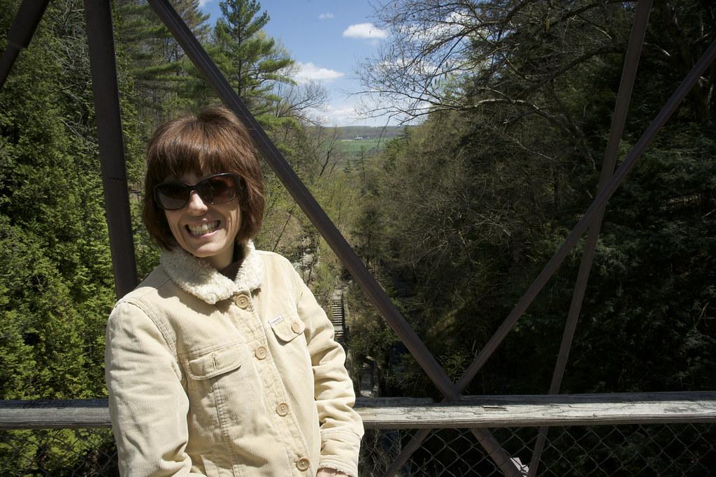 Oh So Happy on the Gorge Bridge