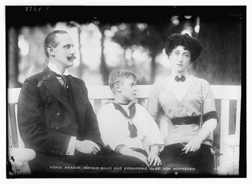 King Haakon, Queen Maud and Crown Prince Olaf from Norway.  (LOC)