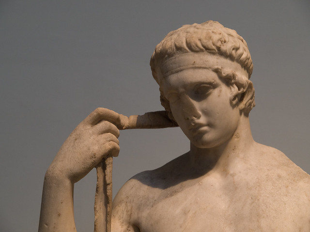 Diadoumenos Marble Statue Of An Athlete Tying A Victor S