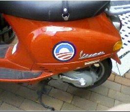 Motor scooter Obama