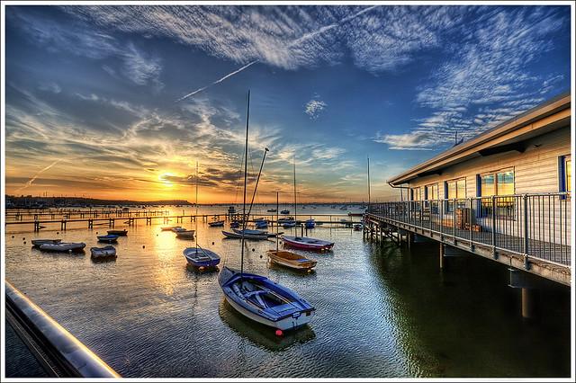 136/365 – HDR – Poole.Sunset.Sandbanks.@.1150×766