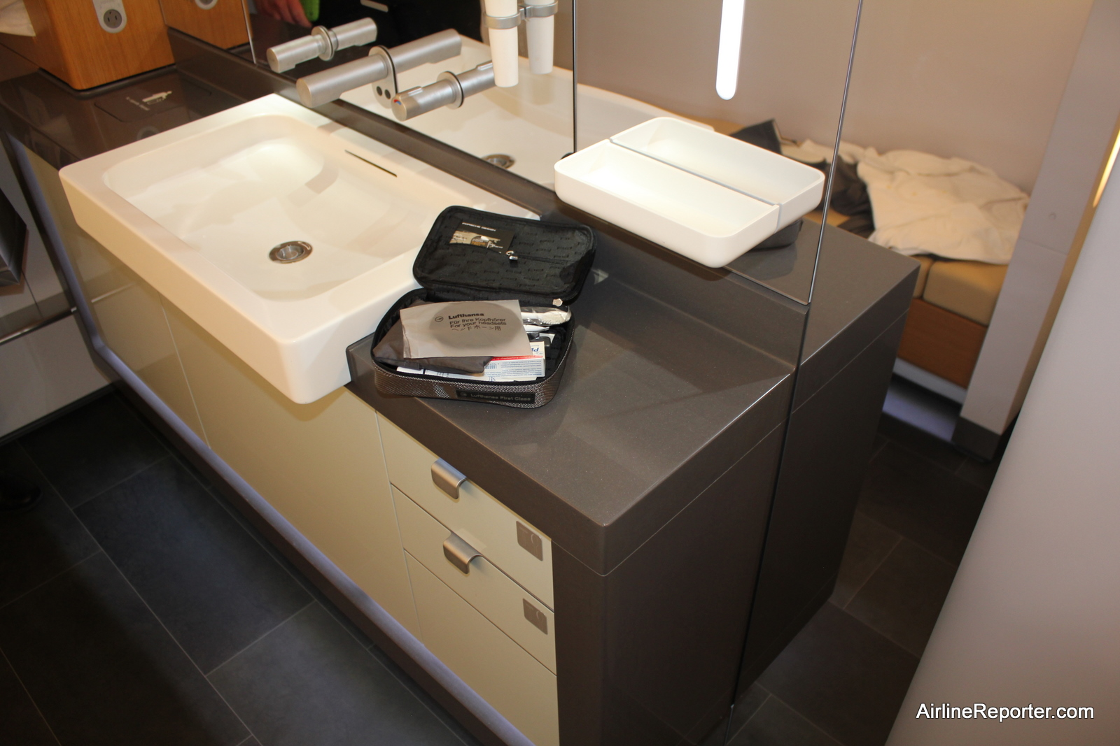 Lufthansa Airbus A380 First Class Lavatory | Flickr ...