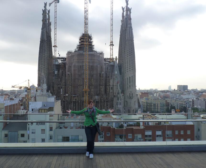 Terrazza dell'Ayre Rosellon Hotel a Barcellona, di fronte la Sagrada Familia