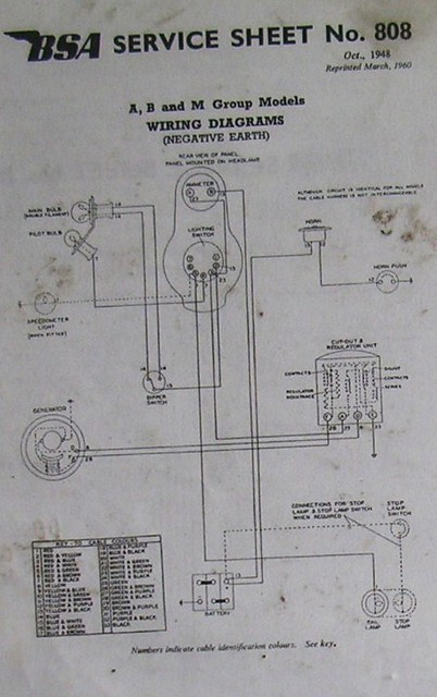 Bsa Wiring Diagram A B  U0026c