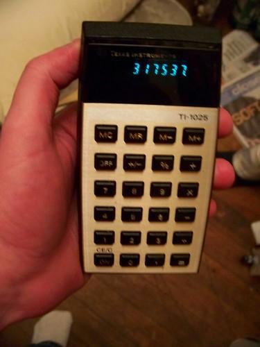 TI-1025 ELECTRONIC CALCULATOR