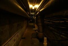 Service tunnels under Colindale Hospital, London.