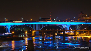 New I-35W Bridge in Blue, 19 Feb 2009
