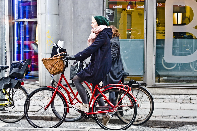 Red Bicycles and a Yawn