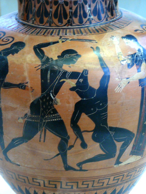 Theseus slaying the Minotaur - Greek