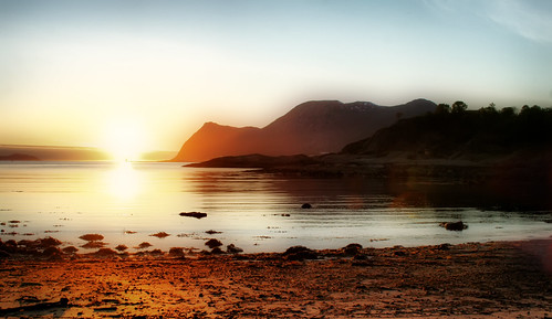 sunset sea mountains fantasy relaxation orton ålesund aalesund godøy tueneset larigan phamilton