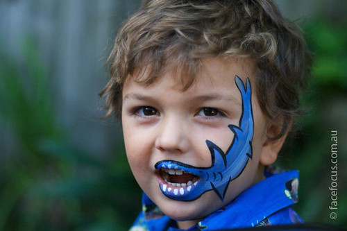Easy Halloween Face Painting Ideas For Children Easy Shark Face Painting Ideas