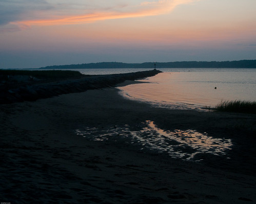 sunset water bay harbor nikon dusk capecod wellfleet d300