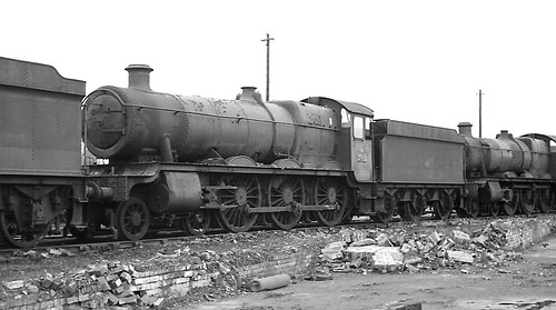 5900 Hinderton Hall over 4 years after withdrawal at Woodham's, Barry 23 March 1968