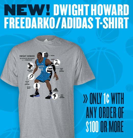 Freedarko adidas super bargain for Dwight howard adidas shirt