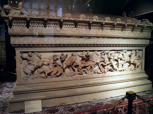Alexander Sarcophagus, Long Side A, Istanbul Archaeology Museum