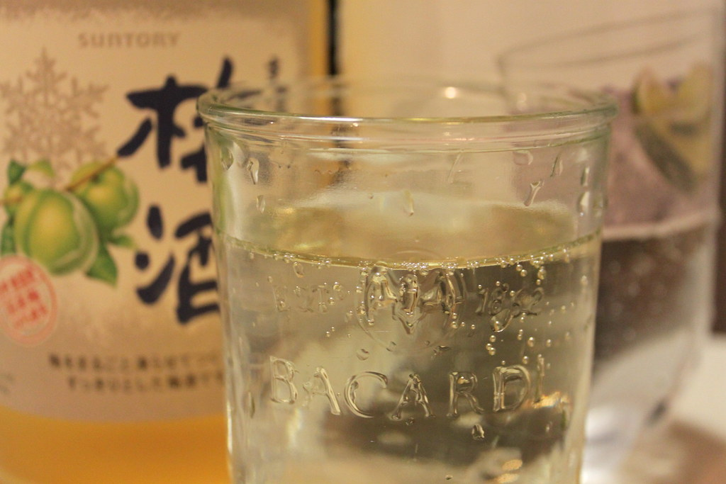 Umeshu and soda water