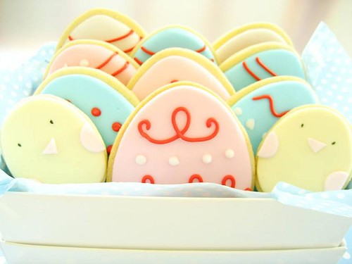 box of easter cookies