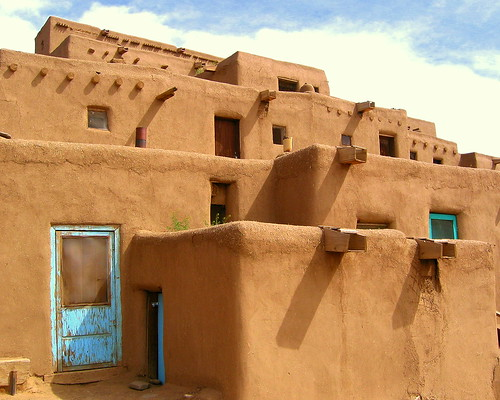 Adobe homes taos pueblo a photo on flickriver - Pueblo adobe houses property ...