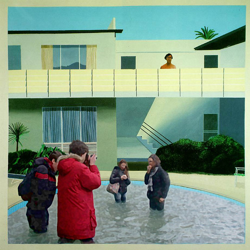 European tourists invade David Hockney's pool (and Nick barely escapes!)