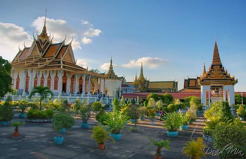 vacation architecture digital silver landscape pagoda nikon asia cambodia khmer buddha royal buddhism palace dri phnom penh blending d80