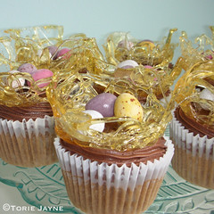 Gluten free Easter toffee apple cupcakes!