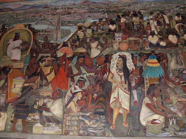 Tenochtitl n market flickr photo sharing for Diego rivera tenochtitlan mural