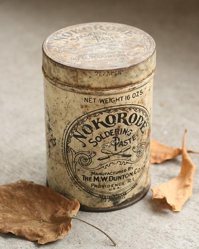 Vintage Nokorode Soldering Paste Can