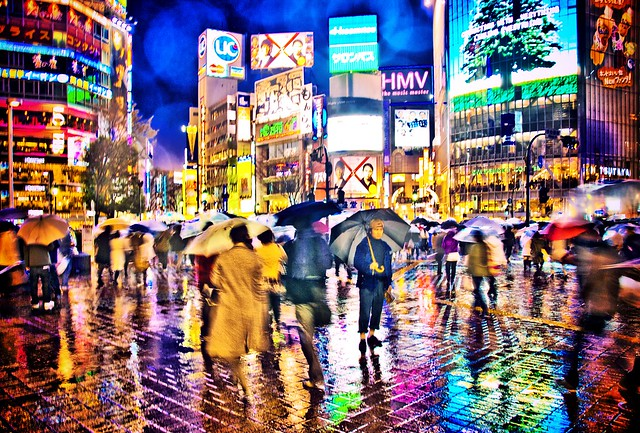 Shibuya, same place different life and colours