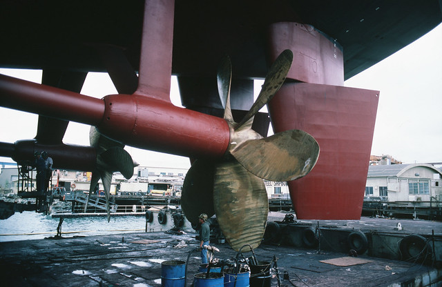 USS Sacramento's Port Screw
