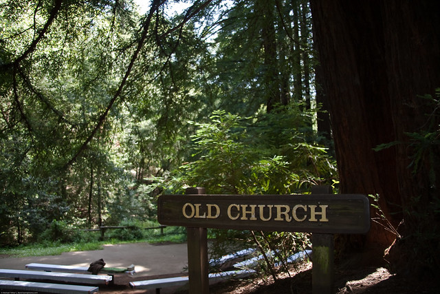 the rustic outdoor old church picnic area is more majestic than any cathedral in europe and an