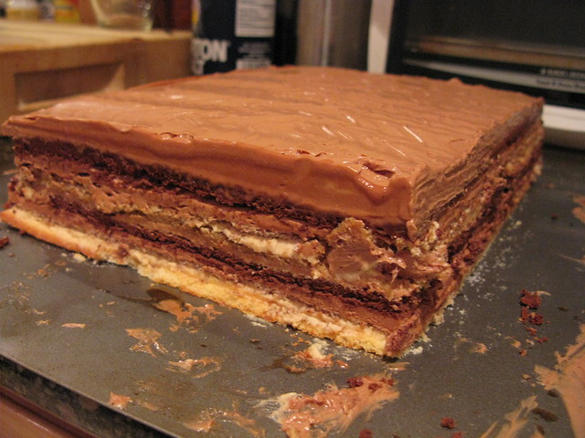 Preparing 12-layer mocha cake, part 2 | Explore frankfarm's ...