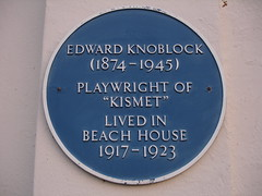 Photo of Edward Knoblock blue plaque