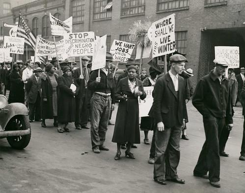 Protestors Demonstrating During Great Depression