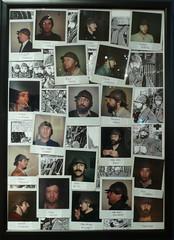Portraits avec casque militaire, pris au Polaroïd