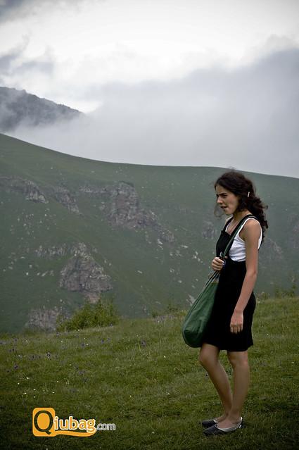 Krajobraz Kazbegi, Gruzja