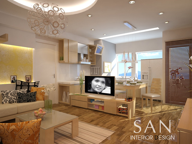Small flat interior design of mrs huong flickr photo for Flat interior