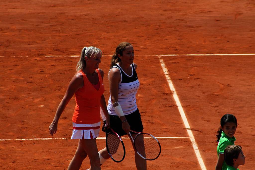 Andrea Temesvari and Sandrine Testud