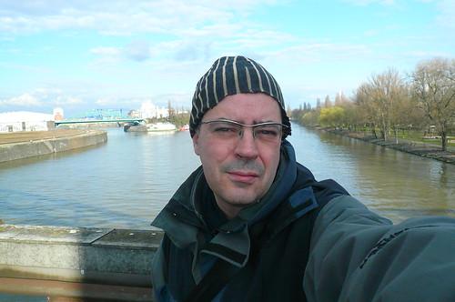 Selbst auf der Deutschherrenbrücke