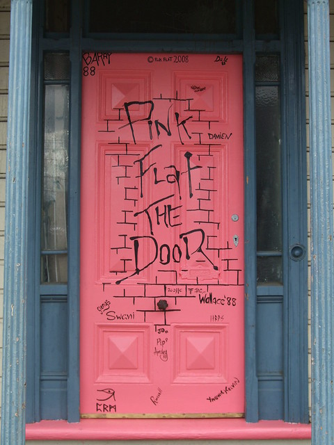 Pink Flat the Door - repainted