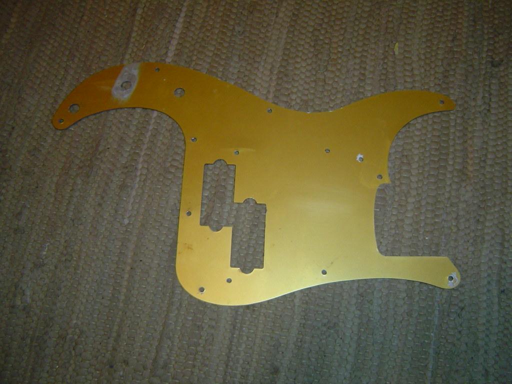 Fender 50's Gold Anodized Pickguard back | neal | Flickr